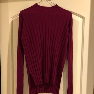 Theory ribbed mock neck sweater